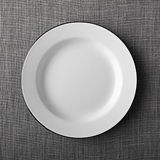 Black Rim Enamelware Dinner Plate