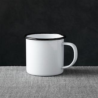 Black Rim Enamelware Mug