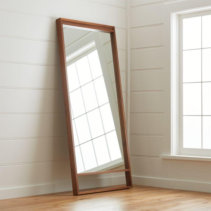 Blair Walnut Floor Mirror Crate And Barrel