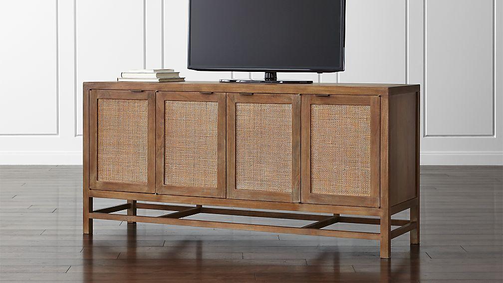 blake grey wash 68 media console. Black Bedroom Furniture Sets. Home Design Ideas