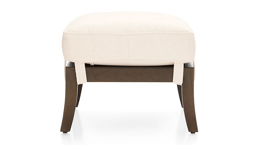 Blake Carbon Grey Ottoman with Fabric Cushion