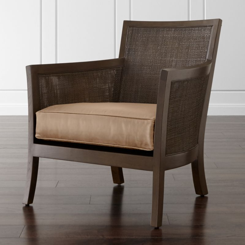 Blake Carbon Grey Chair With Leather Cushion Libby