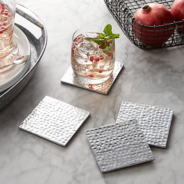 Blake Aluminum Coasters Set Of 4 Crate And Barrel