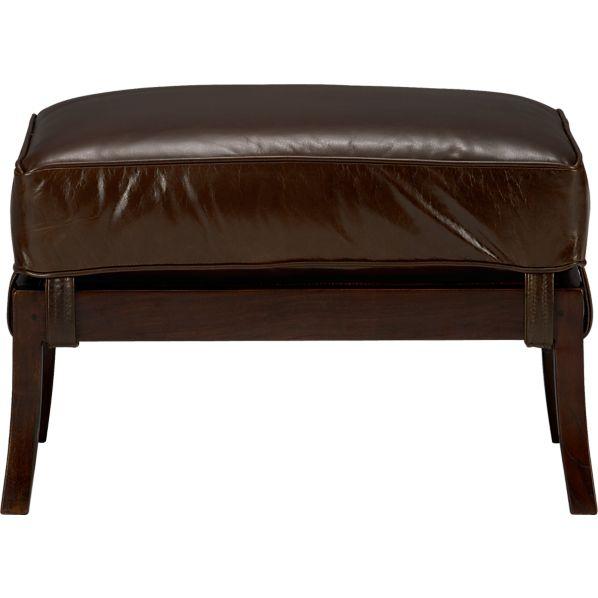 Blake Ottoman with Leather Cushion