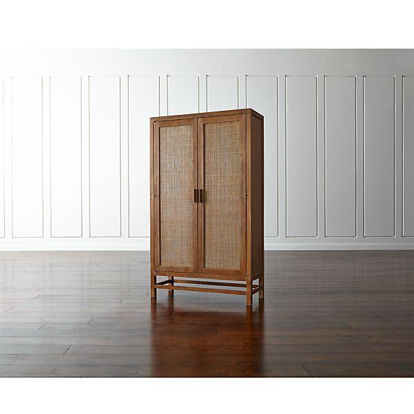 Blake Grey Wash Two-Door Cabinet