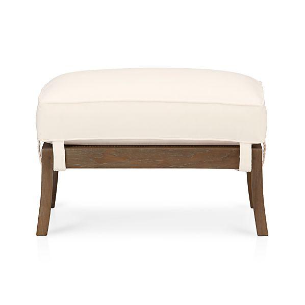 Blake Grey Wash Ottoman with Cushion
