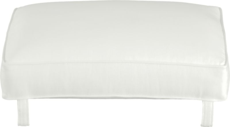 Cushion for Blake Ottoman is plumped with soy- or plant-based polyfoam and wrapped in crisp self-welted cotton-poly fabric. Leather cushion also available.<br /><br /><NEWTAG/><ul><li>Cotton-polyester cushion with multilayer soy- or plant-based polyfoam</li><li>Professional cushion cleaning recommended</li><li>Made in North Carolina, USA of domestic and imported materials</li></ul>