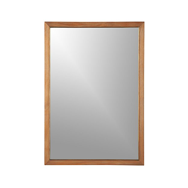Blake Grey Wash Rectangular Wall Mirror