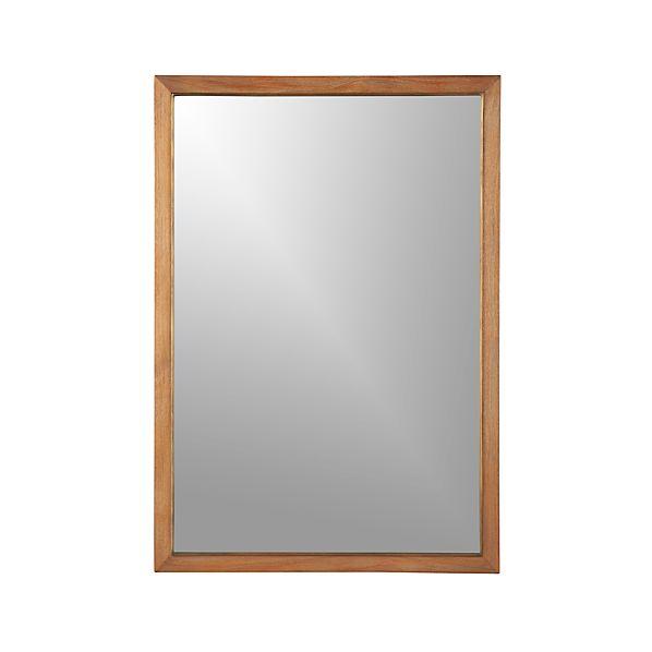 Blake Grey Wash Rectangular Wall Mirror