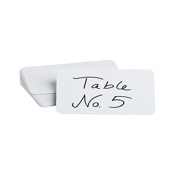 Set of 24 Blank Placecards