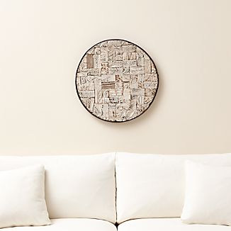 Block Print Reclaimed Wood Wall Art