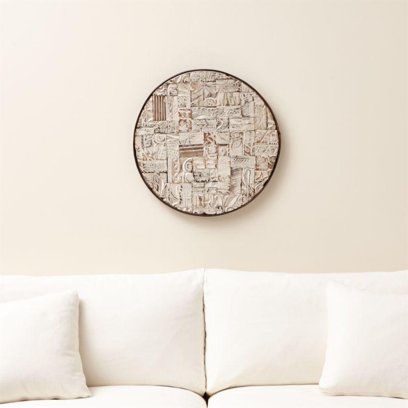 Block Print Reclaimed Wood Wall Art