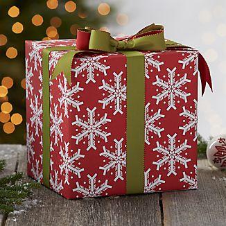 Blocky Snowflake Gift Wrap