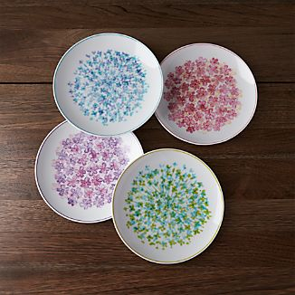 Set of 4 Bloom Plates