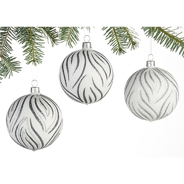 Set of 3 Blossom Ball Ornaments Set of Three
