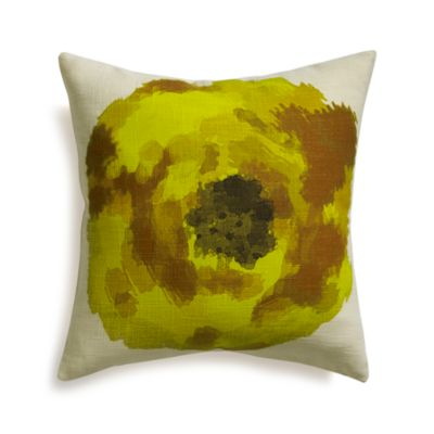 Blossom Yellow 18 Pillow with Feather-Down Insert