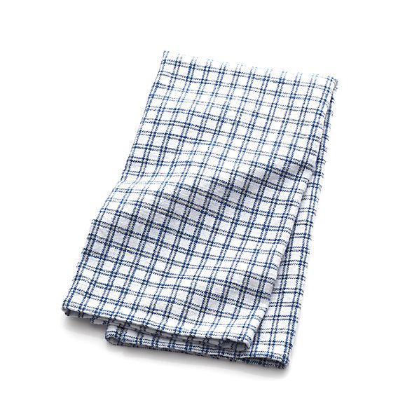Blue Grid Dish Towel