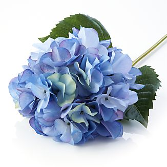 Blue Hydrangea Artificial Flower Stem