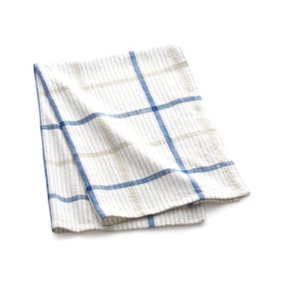 Blue Neutral Plaid Dishtowel