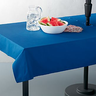 Blue Umbrella Tablecloth