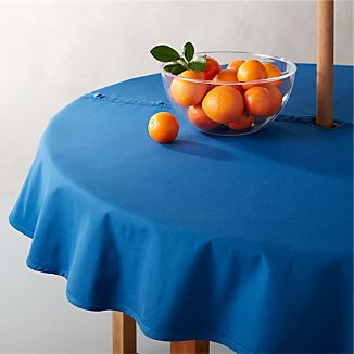 "Blue 60"" Round Umbrella Tablecloth"