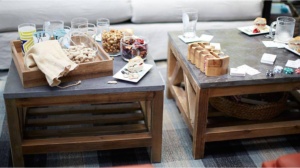 Bluestone Square Coffee Table Crate And Barrel