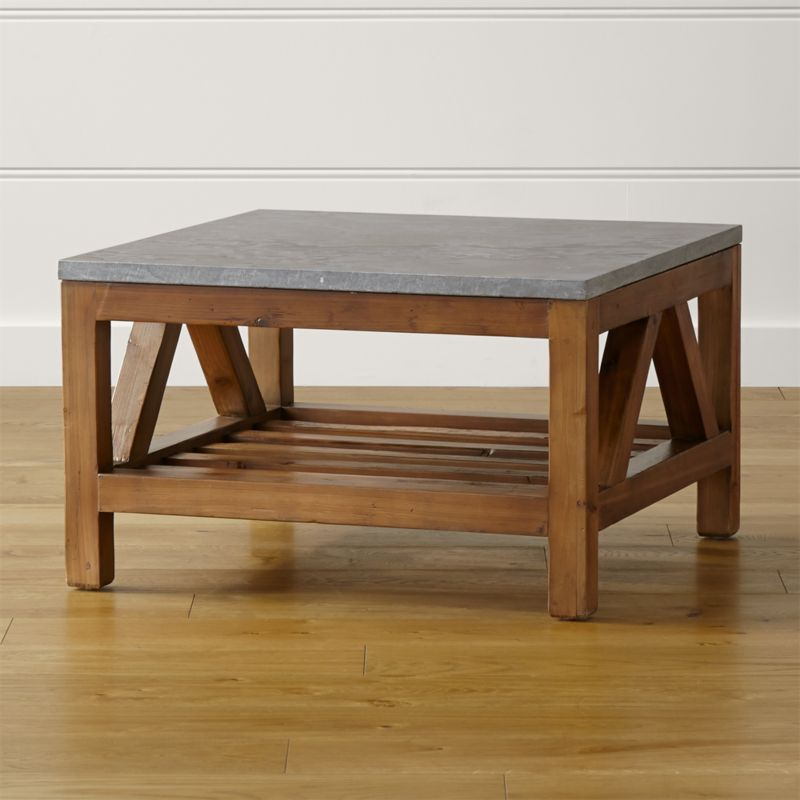 Crate And Barrel Black Marble Coffee Table: Bluestone Square Coffee Table