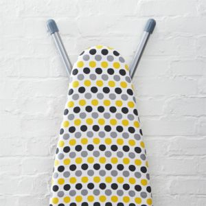 Yellow Dot Ironing Board Cover with Pad