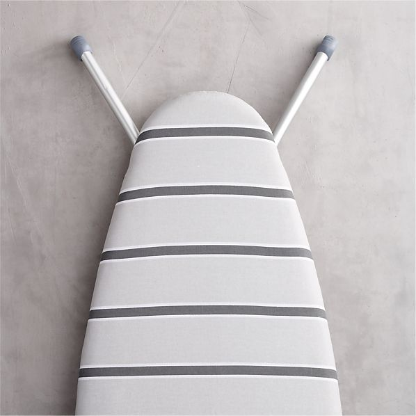 "Grey Stripe 18"" Ironing Board Cover with Pad"