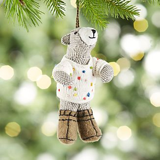 Bob the Bear in Polka Dot Sweater Ornament