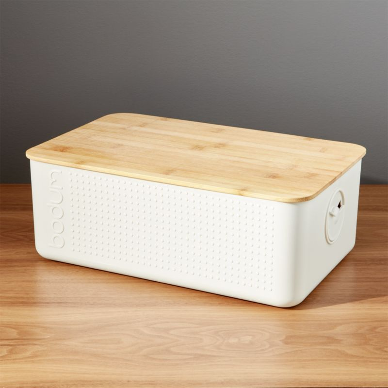 Bodum 174 White Bread Box Crate And Barrel