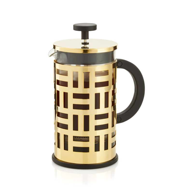 Gold French Press Coffee Maker : Bodum Eileen Gold French Press Coffeemaker Crate and Barrel
