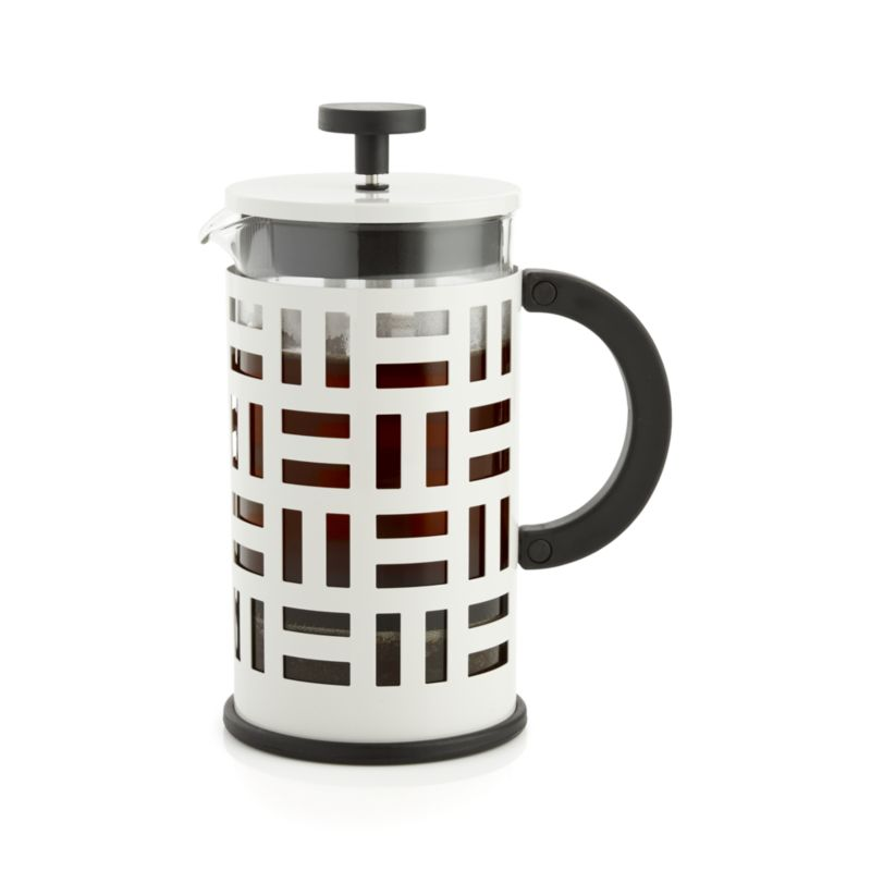 White French Press Coffee Maker : Bodum Eileen White French Press Coffeemaker Crate and Barrel
