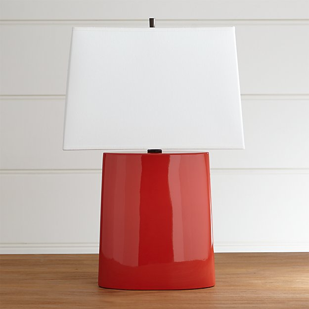 Boka Red Table Lamp Reviews Crate And Barrel