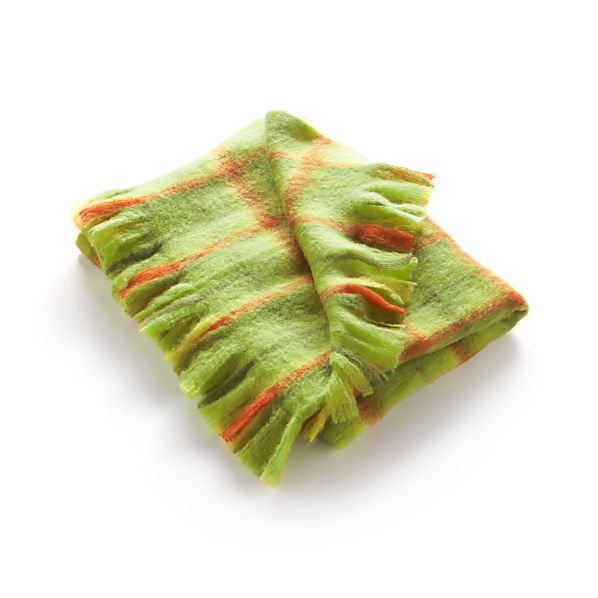 Bold Green Plaid Throw
