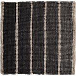 """Bold Graphite Grey Striped Wool-Blend Dhurrie 12"""" sq. Rug Swatch"""
