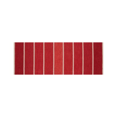 Bold Stripe Red 2.5x7 Runner