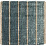 """Bold Blue Striped Wool-Blend Dhurrie 12"""" sq. Rug Swatch"""