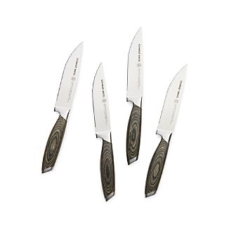 Schmidt Brothers ® Set of 4 Bonded Ash Steak Knives