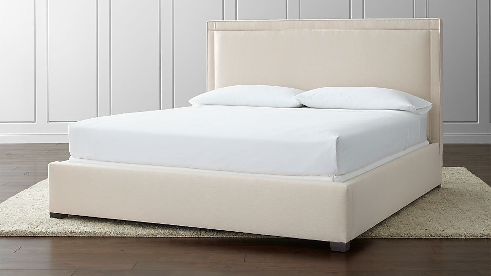 Border Upholstered King Bed