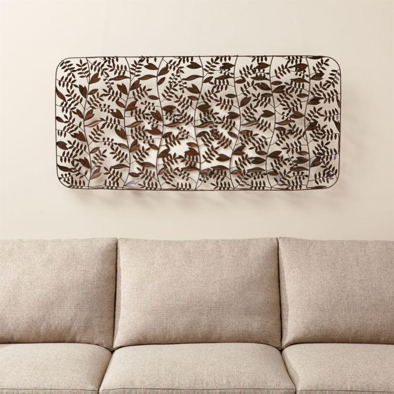 Botanical Basket Metal Wall Art | Crate and Barrel