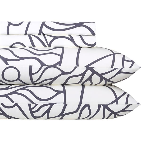 Marimekko Bottna Slate King Sheet Set