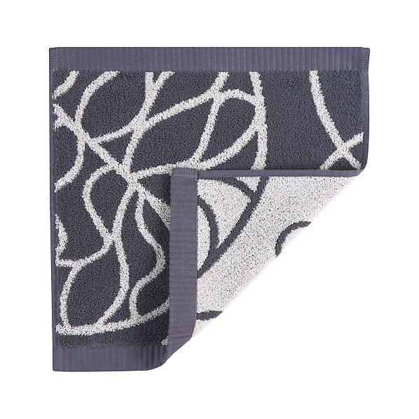 Marimekko Bottna Slate Washcloth