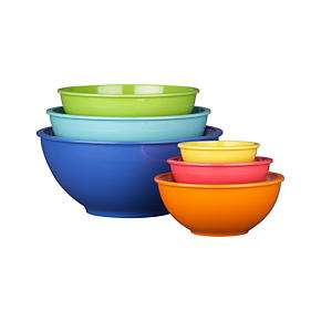 6-Piece Melamine 4.78-11.8 Bowl Set