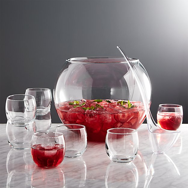 Glass Punch Bowl Set Reviews Crate And Barrel