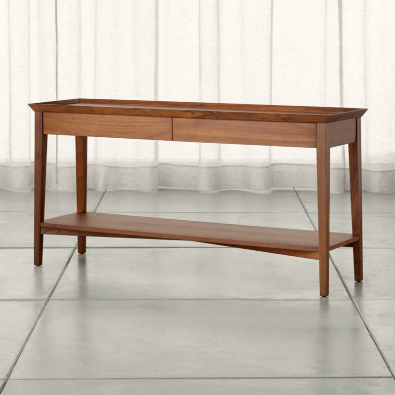 Bradley Walnut Console Table with Drawers