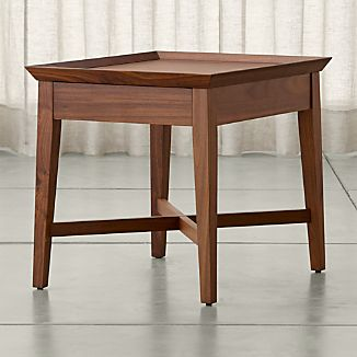 Bradley Walnut Side Table with Drawer
