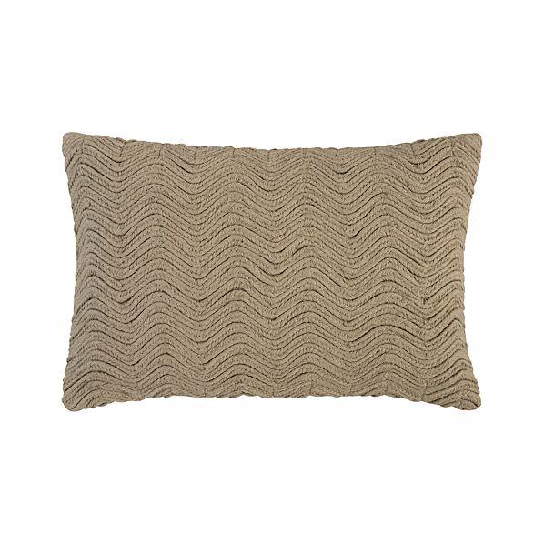 """Braid Brown 18""""x12"""" Pillow"""