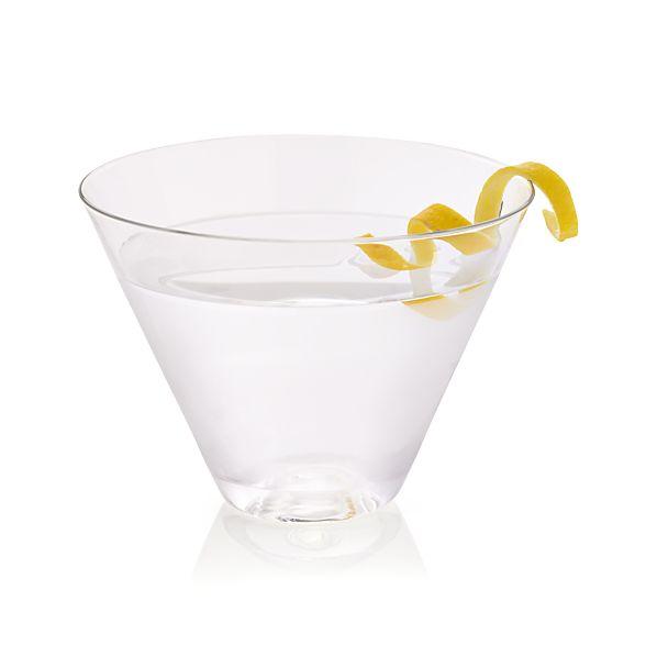 Lulie Stemless Martini Glass