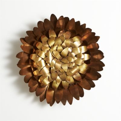 Brass Flower Wall Art
